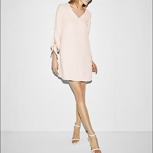 Express Dresses - Tie Sleeve Shift Dress